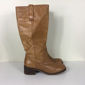 Steve Madden Tan Leather Heeled Riding Boots